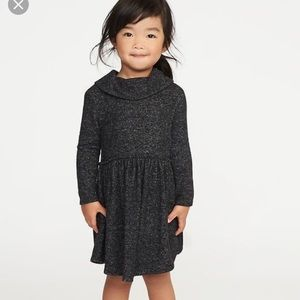 Toddler girls cowl neck fit and flare dress